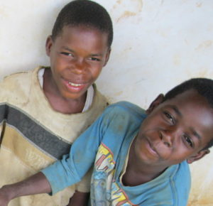 two village boys roughly ten years old